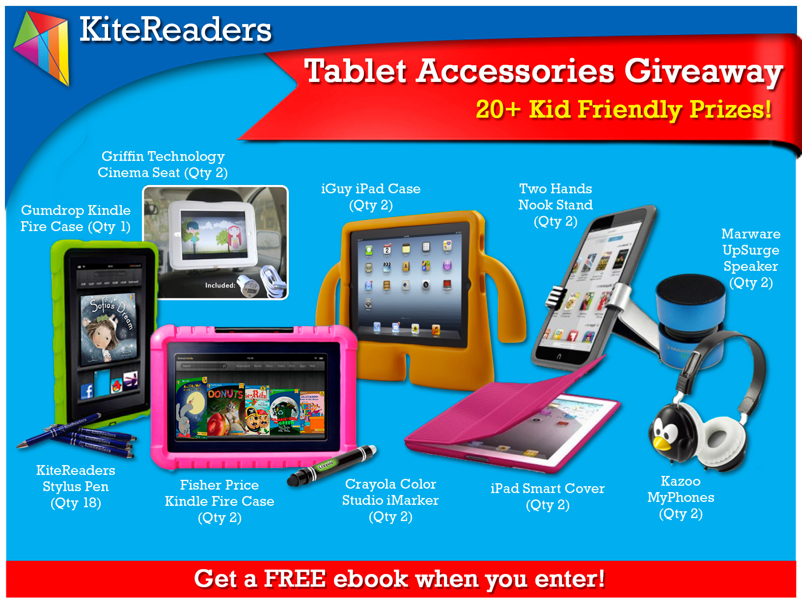 Kid-Friendly Tablet Accessories Giveaway And FREE eBook When You Enter!