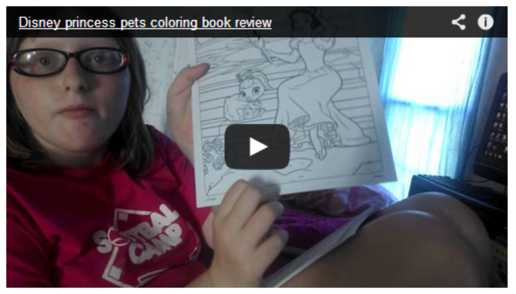Nove Reviews Disney Princess Pets color book